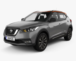 3D model of Nissan Kicks 2017