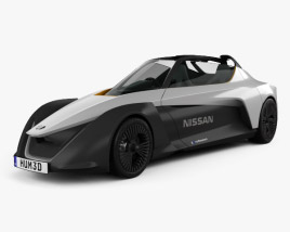 3D model of Nissan BladeGlider 2016