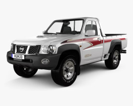 3D model of Nissan Patrol pickup 2016
