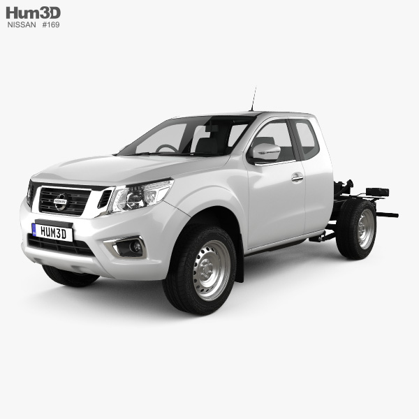 3D model of Nissan Navara King Cab Chassis 2015