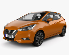 3D model of Nissan Micra 2016