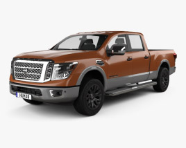 3D model of Nissan Titan Crew Cab Platinum Reserve 2017