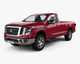 3D model of Nissan Titan Single Cab SV 2017