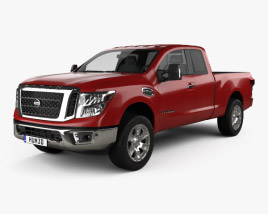 3D model of Nissan Titan King Cab SV 2017
