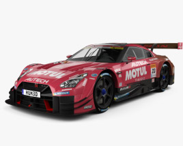 3D model of Nissan GT-R GT500 Motul 2017