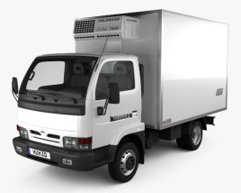 3D model of Nissan Cabstar E Box Truck 1998