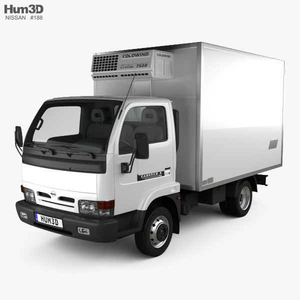 Nissan Cabstar E Box Truck 1998 3D model