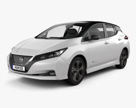 3D model of Nissan Leaf 2018