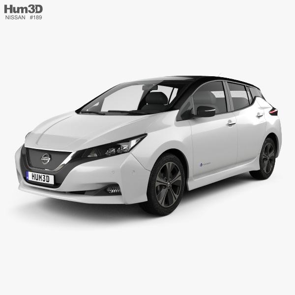 3D model of Nissan Leaf 2018
