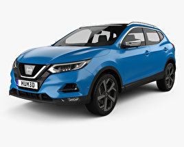 3D model of Nissan Qashqai 2017