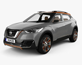 3D model of Nissan Kicks concept with HQ interior 2014