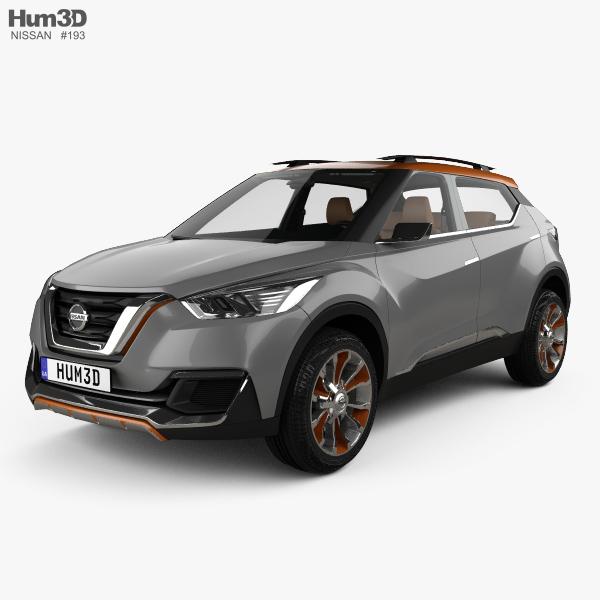 Nissan Kicks concept with HQ interior 2014 3D model