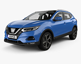 3D model of Nissan Qashqai with HQ interior 2017