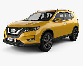 3D model of Nissan X-Trail 2017