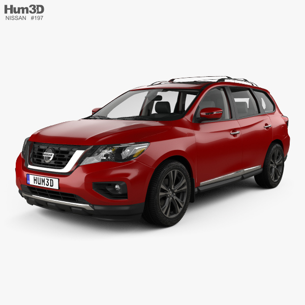 3D model of Nissan Pathfinder with HQ interior 2017