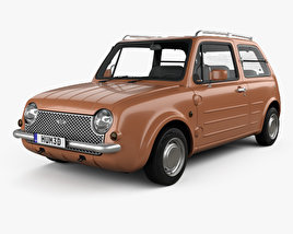 3D model of Nissan Pao 1989