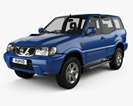 3D model of Nissan Terrano II 5-door 2006