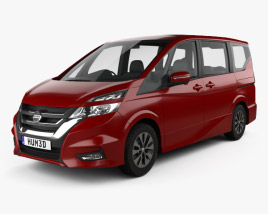 3D model of Nissan Serena Highway Star 2016