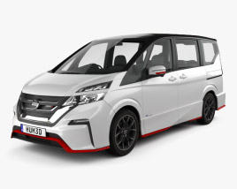 3D model of Nissan Serena Nismo 2016