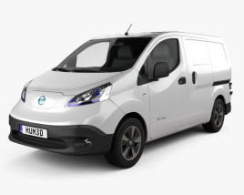 3D model of Nissan e-NV200 van 2014