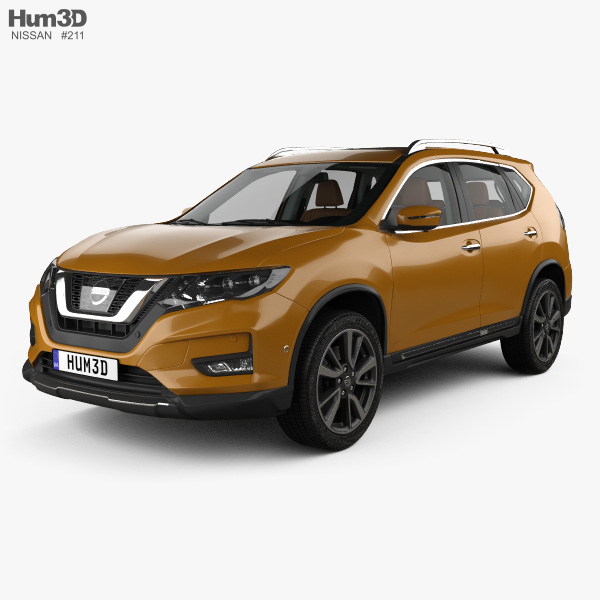 3D model of Nissan X-Trail with HQ interior 2017