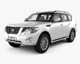 3D model of Nissan Patrol CIS-spec with HQ interior 2014