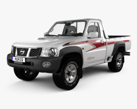 3D model of Nissan Patrol pickup with HQ interior 2016