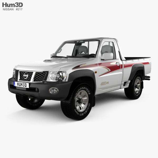 Nissan Patrol pickup with HQ interior 2016 3D model