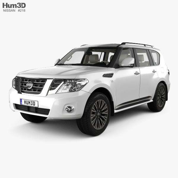 Nissan Patrol AE-spec with HQ interior 2014 3D model