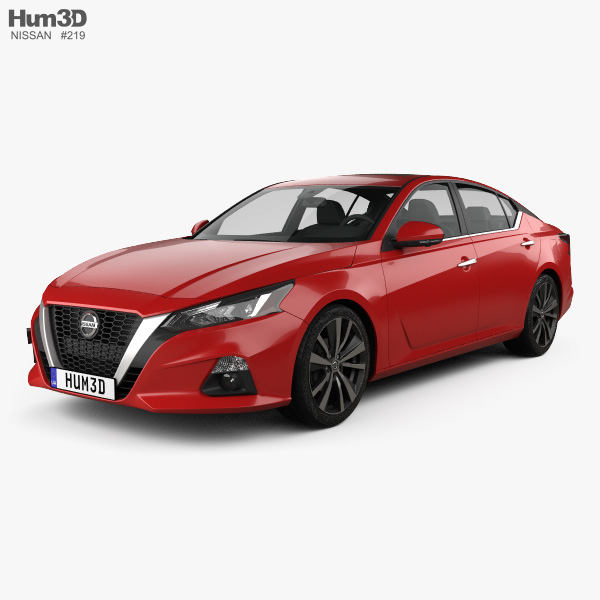 3D model of Nissan Altima Platinum 2018