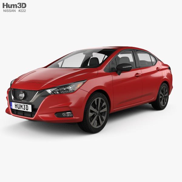 Nissan Versa SR sedan 2020 3D model