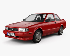 3D model of Nissan Sentra SE-R coupe 1990