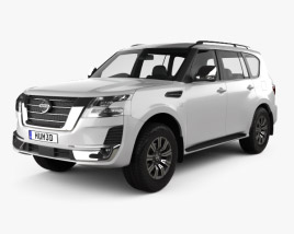 3D model of Nissan Patrol Ti L 2020