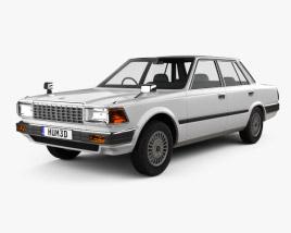 3D model of Nissan Cedric sedan 1984