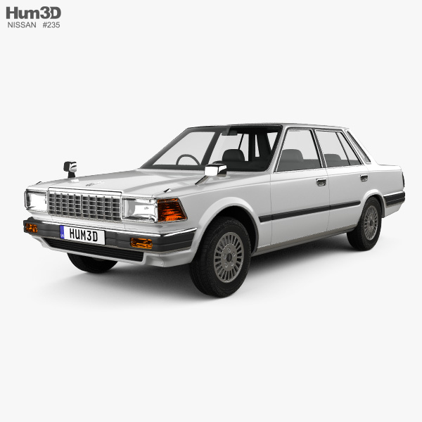 Nissan Cedric sedan 1984 3D model