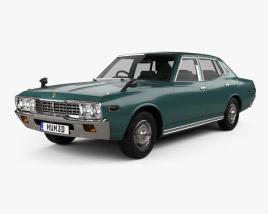 3D model of Nissan Cedric sedan 1975