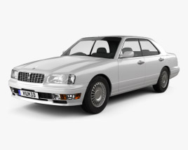 3D model of Nissan Cedric Brougham sedan 1995
