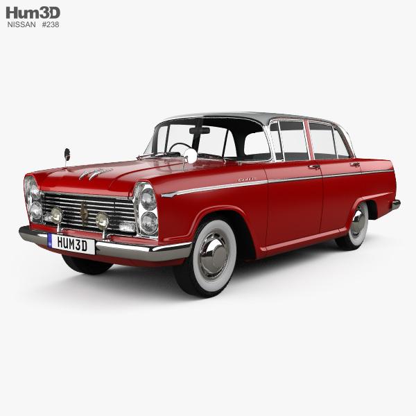 Nissan Cedric 1500 Deluxe sedan 1960 3D model