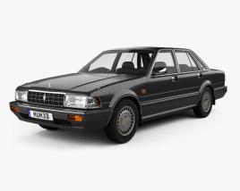 3D model of Nissan Cedric Brougham sedan 1987