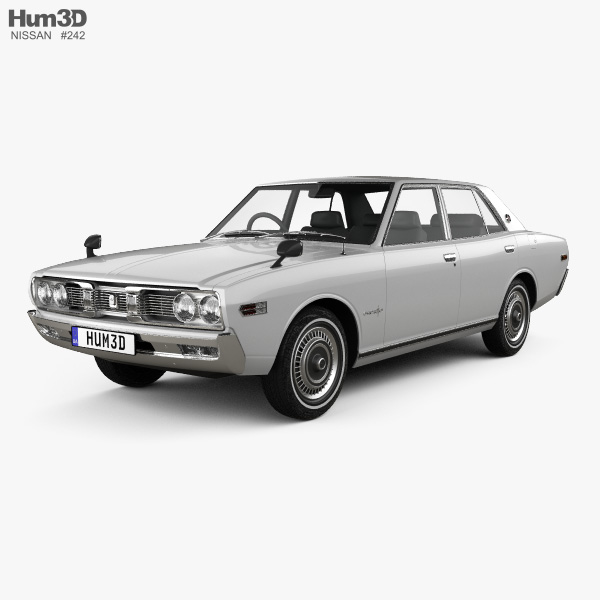 Nissan Cedric sedan 1971 3D model