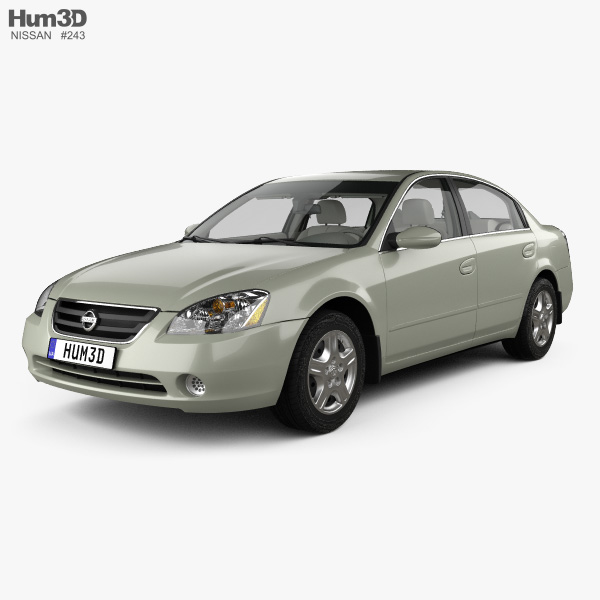 3D model of Nissan Altima S with HQ interior 2002