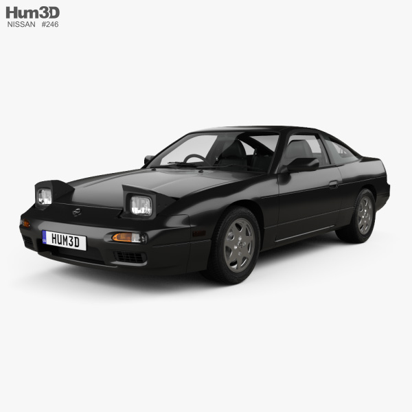 Nissan 180SX with HQ interior 1991 3D model