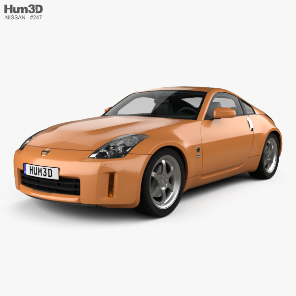 Nissan 350Z with HQ interior 2007 3D model