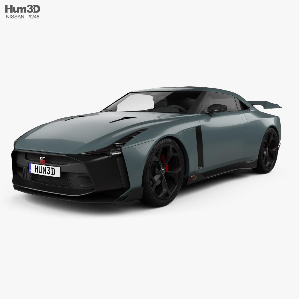 3D model of Nissan GT-R50 2019