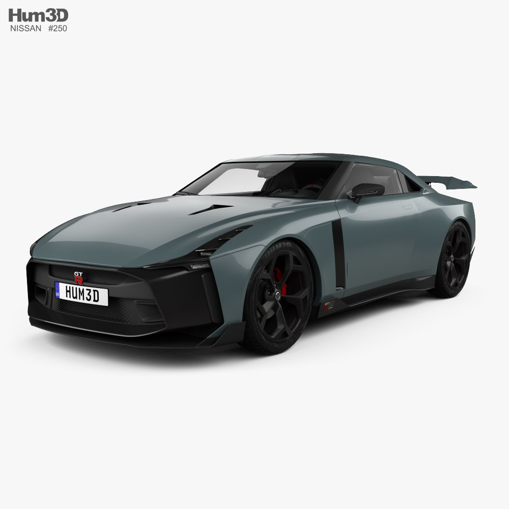 3D model of Nissan GT-R50 with HQ interior 2019