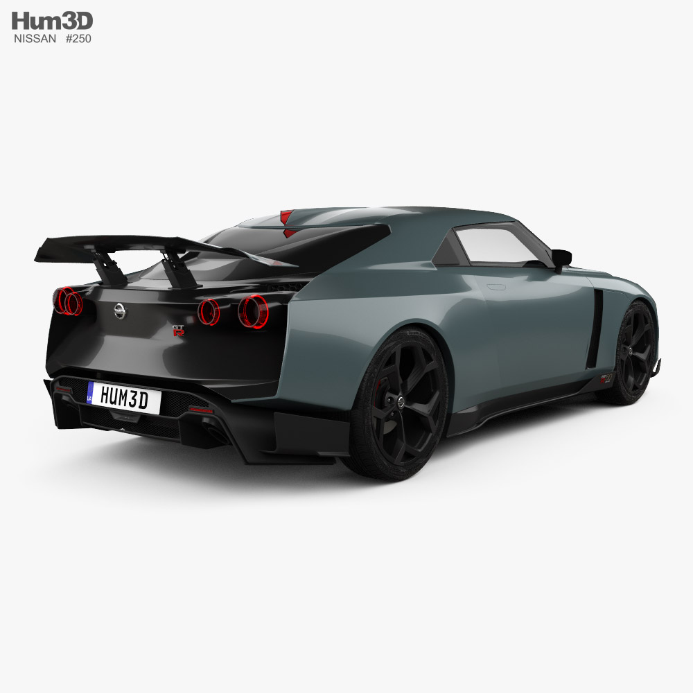 Nissan GT-R50 with HQ interior 2019 3d model back view