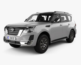 3D model of Nissan Patrol Ti L with HQ interior 2020