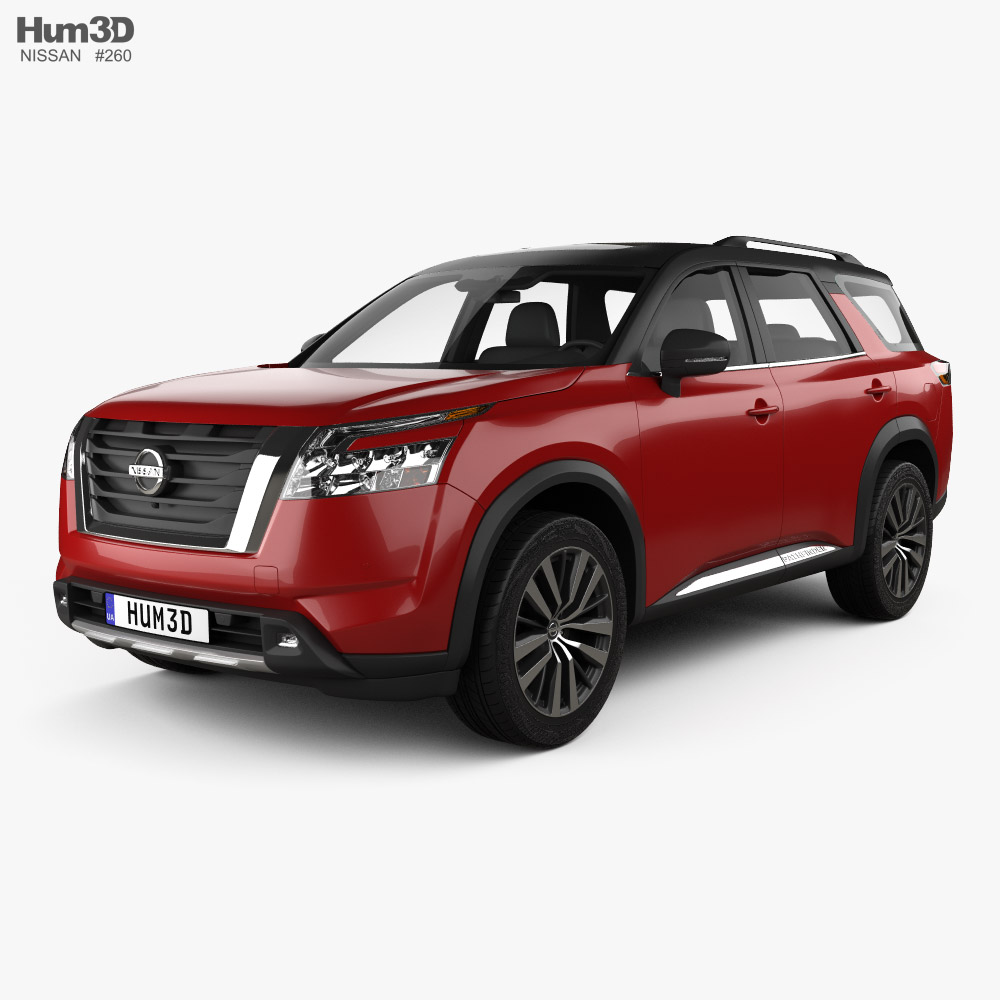 Nissan Pathfinder Platinum 2022 3D model
