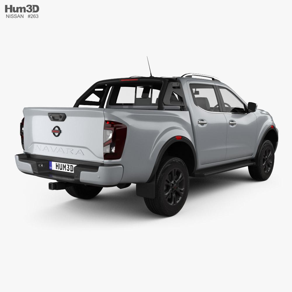 Nissan Navara Double Cab PRO 4X 2020 3d model back view