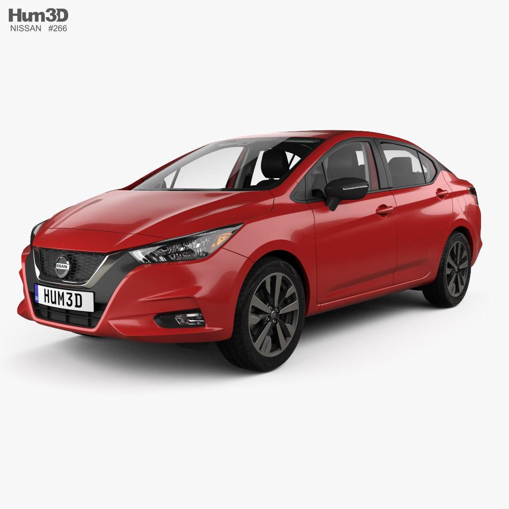 Nissan Versa SR sedan with HQ interior 2020 3D model